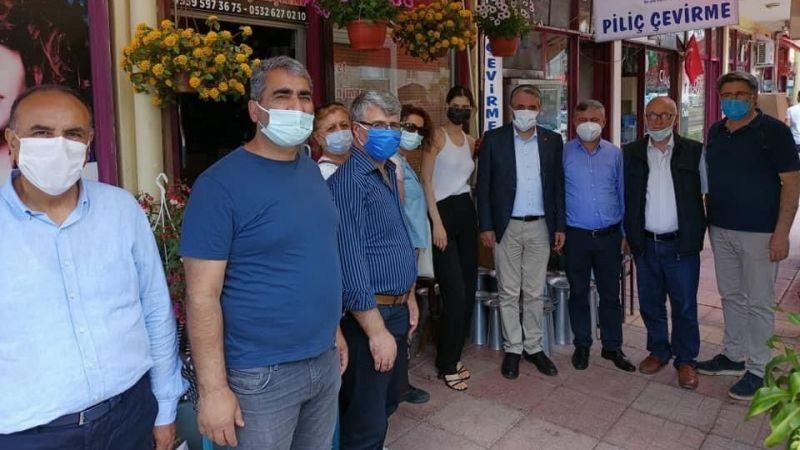 CHP Derince'den esnaf ziyaretleri