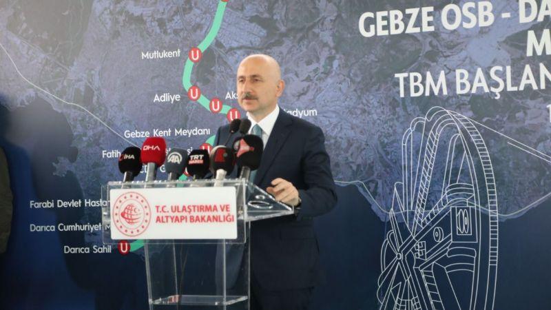Bakan Karaismailoğlu, Gebze metrosu için müjdeyi verdi