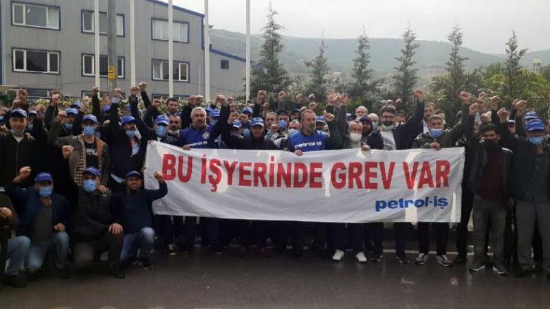 Kocaeli'de fabrika işçileri greve çıktı
