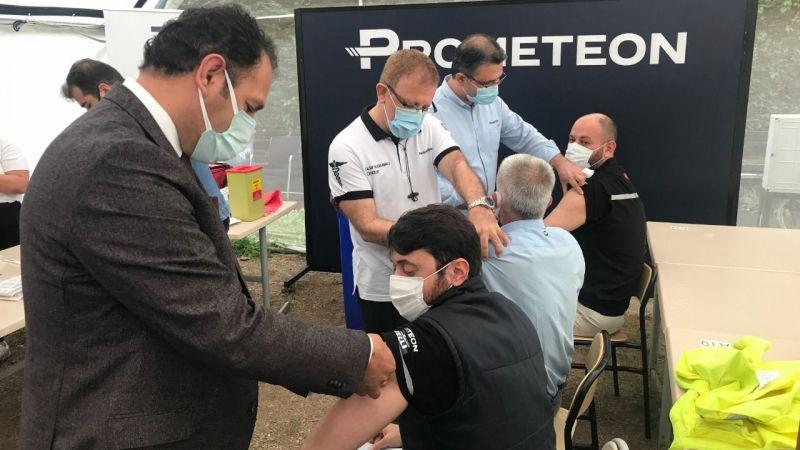 Prometeon'da 800 çalışan aşılandı