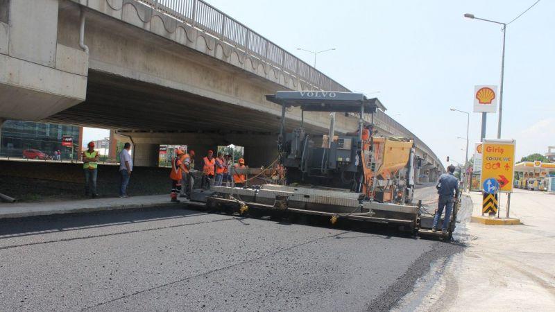Kandıra Sapağı'nı Karayolları asfaltladı