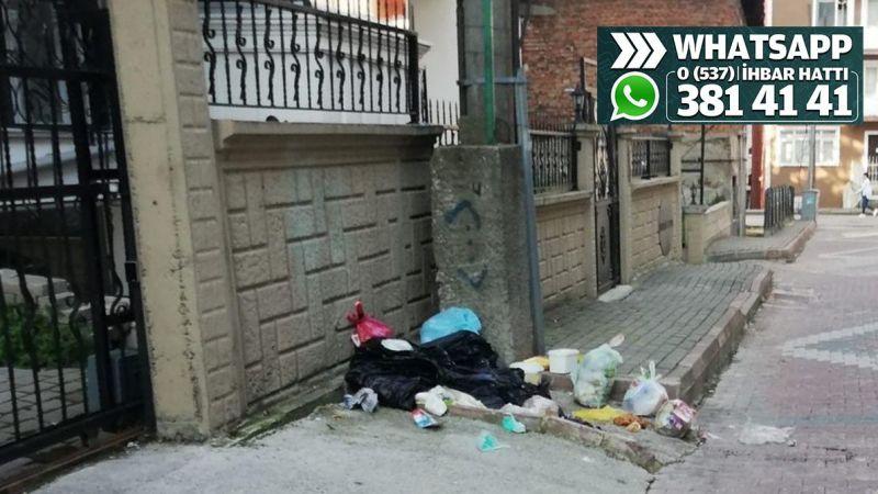 Çöp konteyneri kaldırıldı, çöpler sokağa atılır oldu