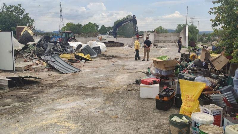 Türkkan'ın çiftliğindeki kaçak yapıların yıkımı tamamlandı