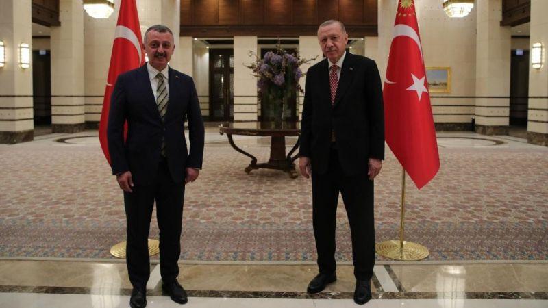 Büyükakın, Cumhurbaşkanı Erdoğan ile bir araya geldi