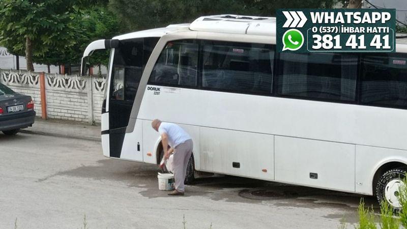 'Camiden aldığı suyla otobüsü yıkıyor' iddiası