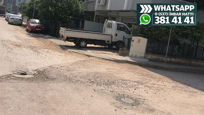 Yenişehir Mahallesi'ndeki çalışma yarım bırakılmış