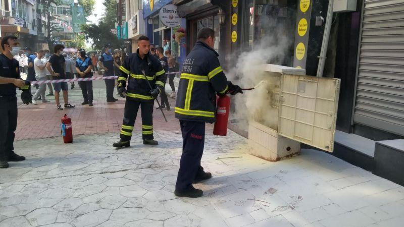 Fethiye Caddesi'nde yangın paniği