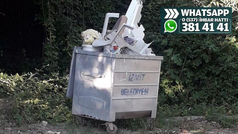 Çöp konteyneri doluyor, çevreye pis koku yayıyor