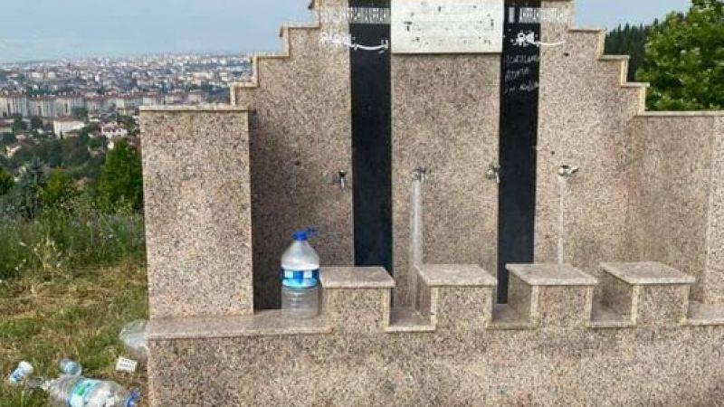 Mezarlıktaki musluklardan bayramda da sular akmadı