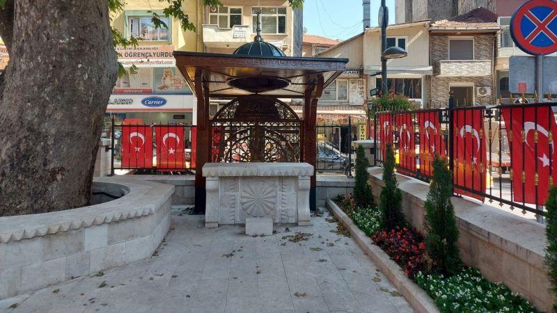 Büyükşehir'den Çınarlı Camii'ne özel sundurma
