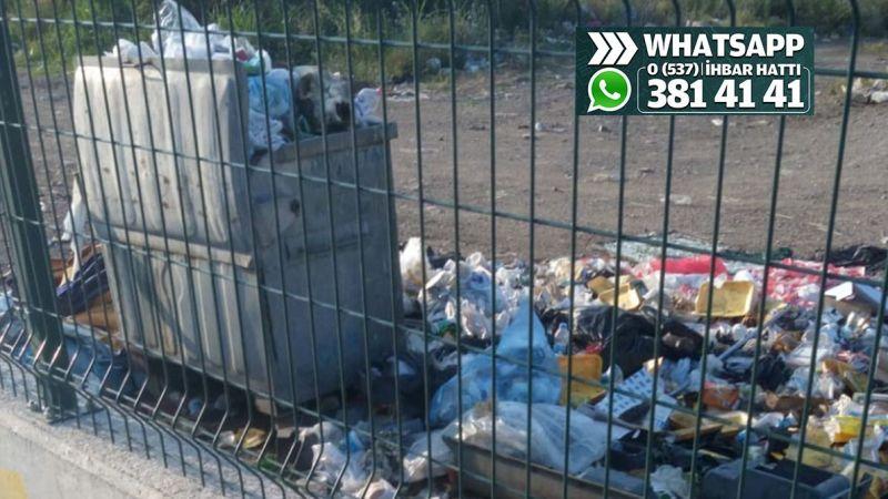 Sanayi sitesindeki çöpler toplanmıyor mu?