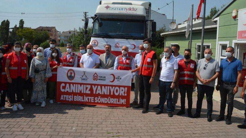 Kocaeli'den Manavgat'a TIR dolusu yardım