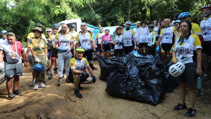 Kocaeli Turizm ve Bisiklet Festivali'nde çevre bilinci aşılandı