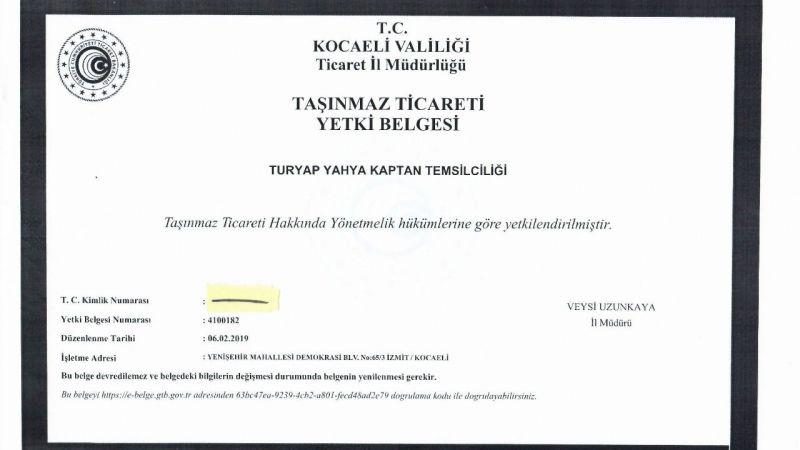 """""""Turyap Yahya Kaptan Temsilciliği'ne iftira atılıyor"""""""