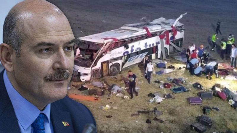 Soylu: 'Otobüs kazası yüreğimize ateş gibi düştü'