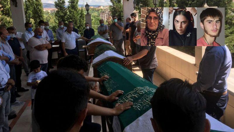 Otobüs kazasında ölen gurbetçi anne ve 2 çocuğu toprağa verildi