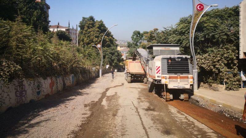 Dilovası Bağdat Caddesi'nde üstyapı çalışmalarına başlandı