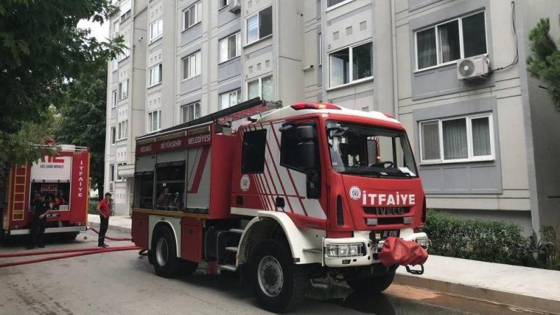 5 katlı binada çıkan yangında hastanelik oldu