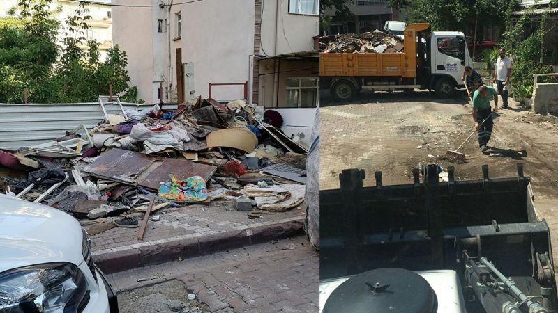 Kalyoncu Sokak'tan 2 kamyon çöp çıktı