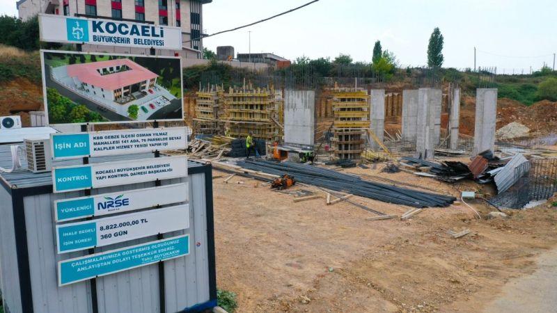 Gebze Beyaz Kalpler Merkezi'ndekaba inşaata geçildi