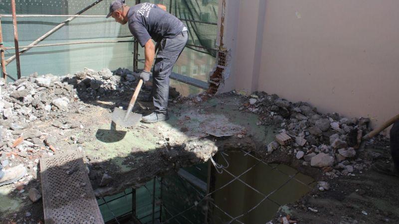 Önder'de katlar indirilmeye başladı