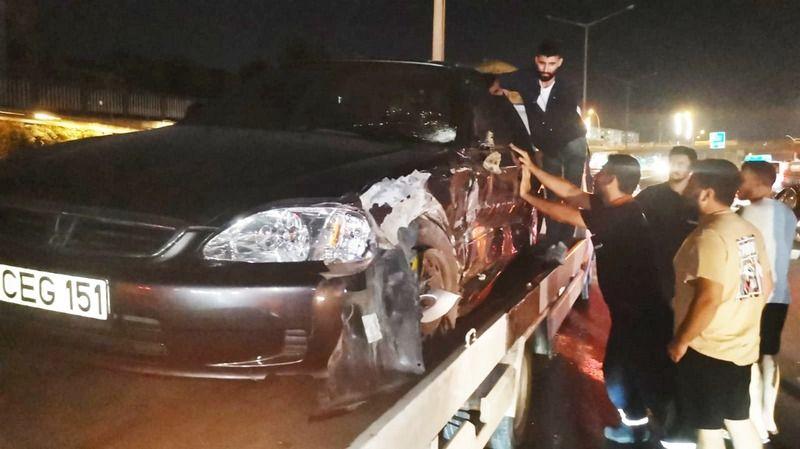 Ters yöne giren otomobil kazaya neden oldu: 4 yaralı