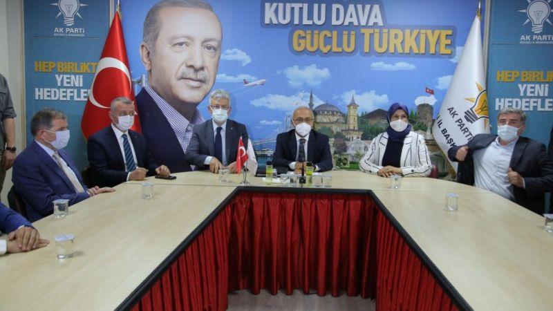 Bakan Elvan'dan AK Parti İl Başkanlığı'na ziyaret