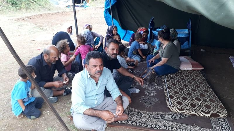 Eyisabuncular, Kandıra'daki mevsimlik işçileri ziyaret etti