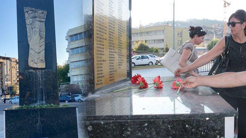 Deprem Anıtındaki isim levhası çalındı