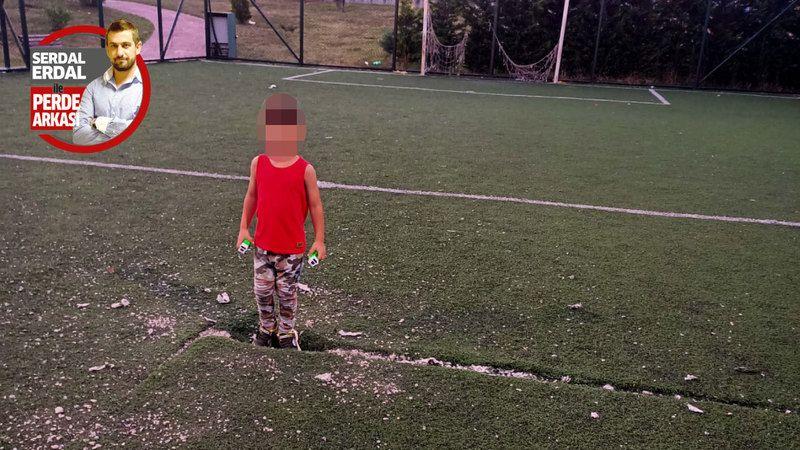 Çocuklar bu sahada nasıl futbol oynasın!