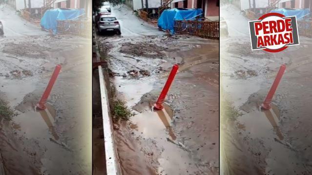 Yağmur yolları tıkadı ekipler geç kaldı