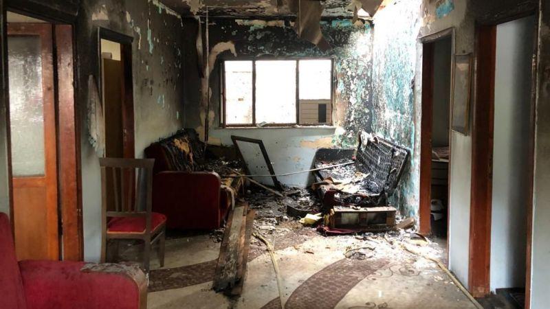 Sigara içerken uyuyakaldı, evde yangın çıktı