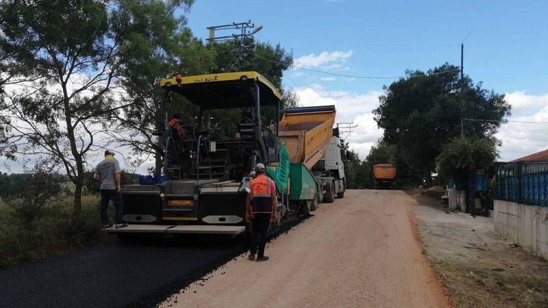 Büyükakın talimat verdi, 1,5 kilometrelik yol asfaltlandı