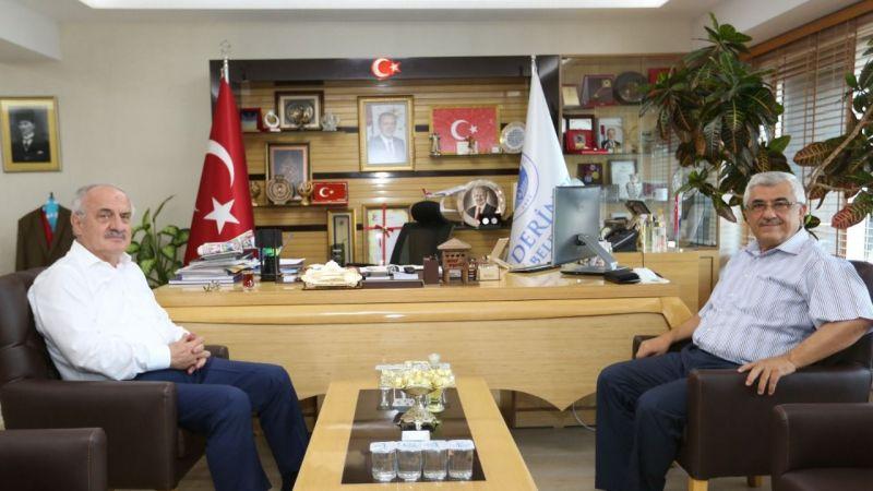 Kaymakam Aksak'tan Başkan Aygün'e veda