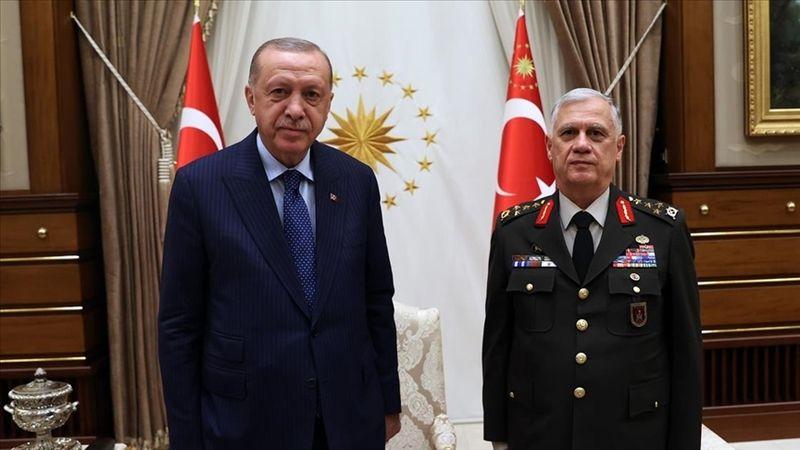 Erdoğan, emekliye ayrılan Orgeneral Dündar'ı kabul etti