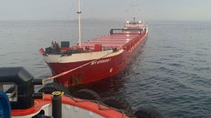 Kocaeli'den Romanya'ya ilerleyen gemi Boğaz'da arızalandı