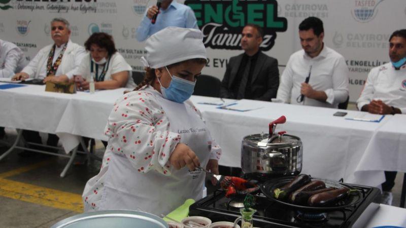 Engelli bireyler, yemek yarışmasında hünerlerini sergiledi
