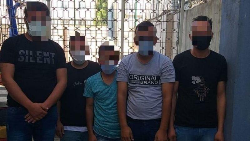 D-100'de durdurulan araçta 4 düzensiz göçmen yakalandı