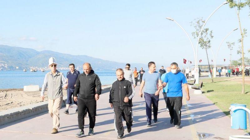 Körfez'de sağlık yürüyüşleri devam ediyor