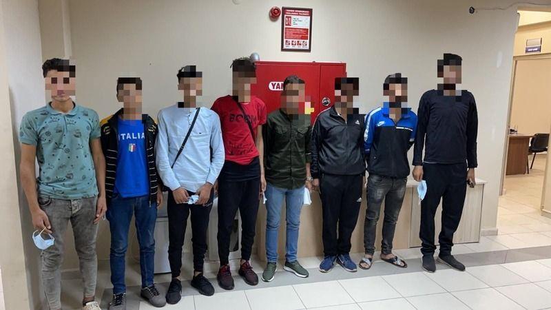 Durdurulan otomobilden 7 düzensiz göçmen çıktı