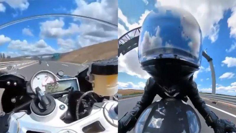 301 km hızla radara giren motorcu cezadan kurtulamadı