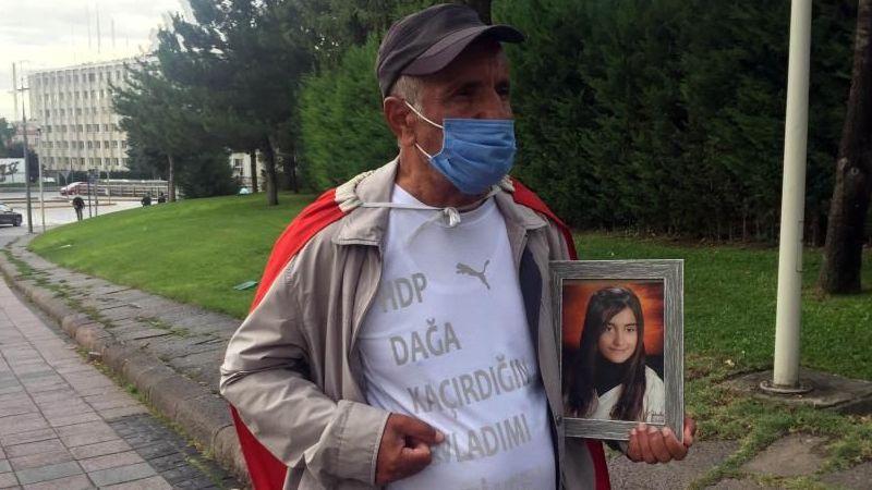 Kızı Kocaeli'den dağa kaçırılan baba İzmir'den Ankara'ya yürüdü