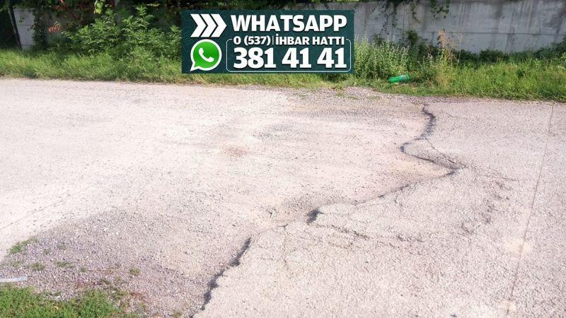 Bozuk yol asfalt bekliyor