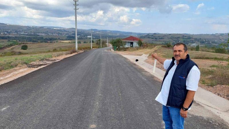Köy muhtarından Büyükşehir'e hizmet teşekkürü