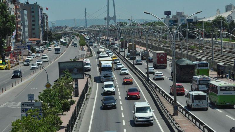 Kocaeli yollarındaki araç sayısı yarım milyona doğru ilerliyor