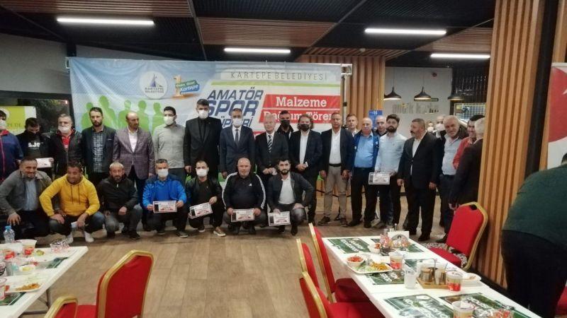 Kartepe Belediyesi'nden kulüplere 10'ar bin TL yardım
