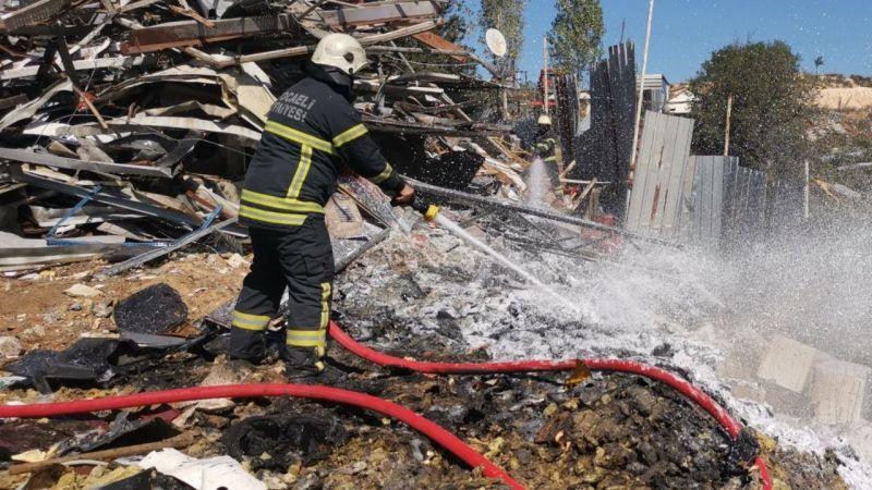 Hurda deposunda yangın çıktı