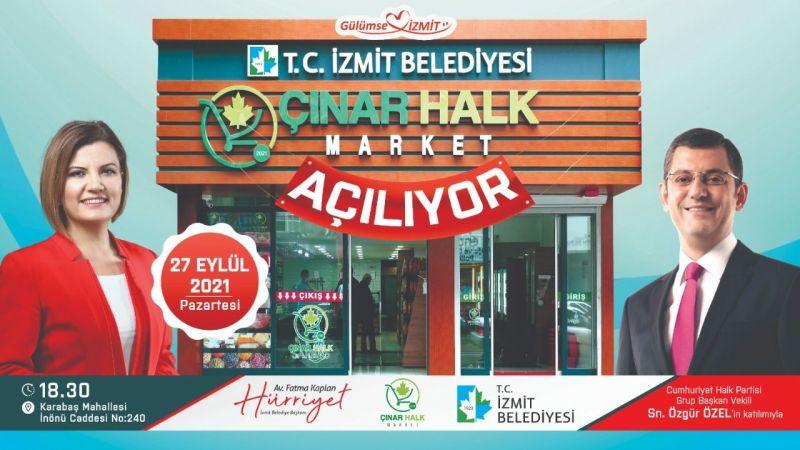 Çınar Halk Market yarın açılıyor
