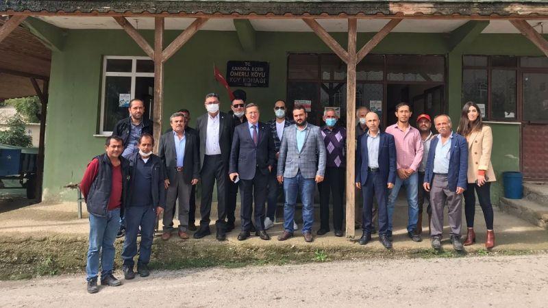 İYİ Partililer, Kandıra'da esnaf ve çiftçiyle buluştu