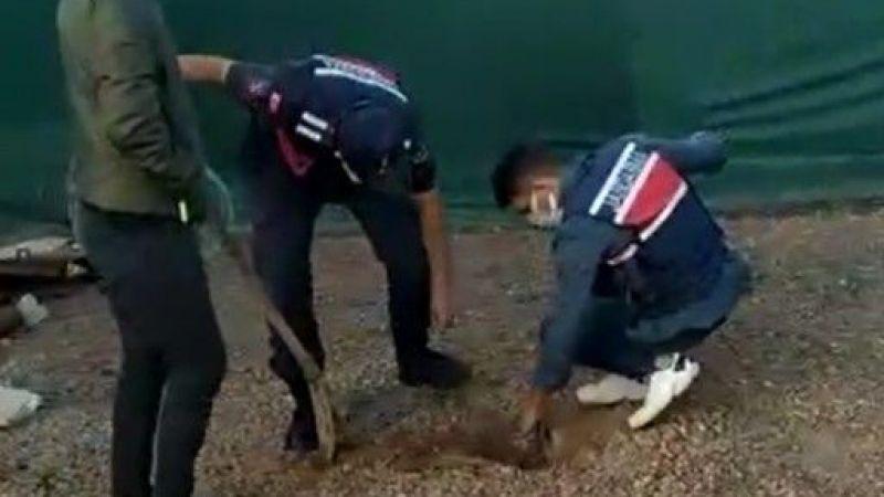 Yağmur suyu giderlerine kimyasal atık atarken yakaladı